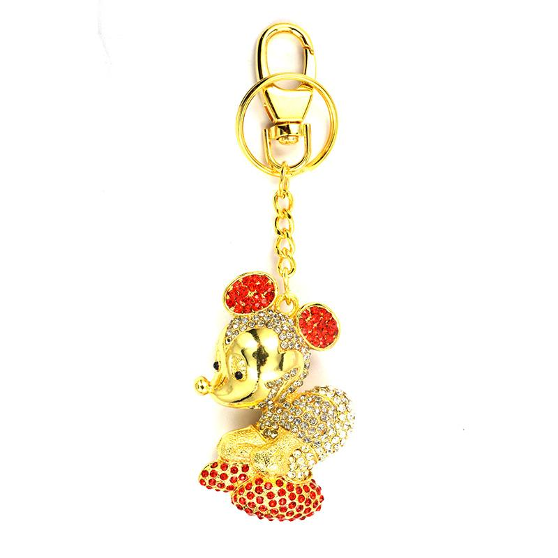 Mickey Mouse Keychain With Diamond