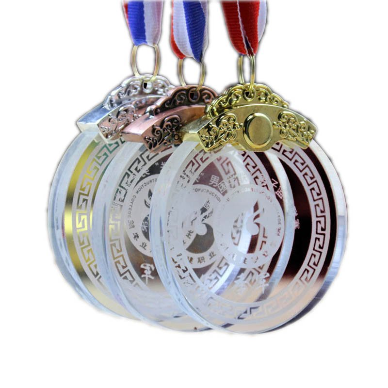 Blank Glass Crystal Medal