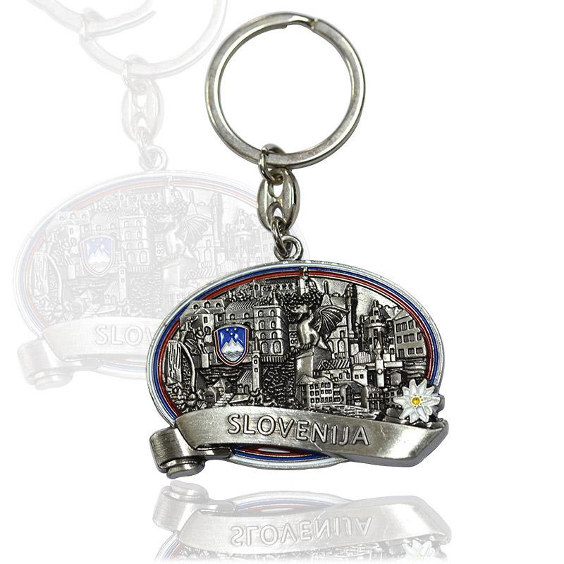Keyring Factory Supplier Design Your Own Antique Silver Keychain