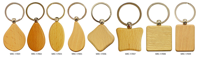 wholesale keychain custom carving wooden keychains