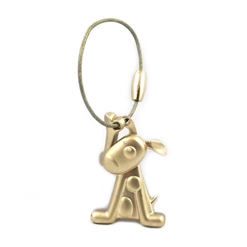 wholesale keychain 3D Dog Shape Keychain