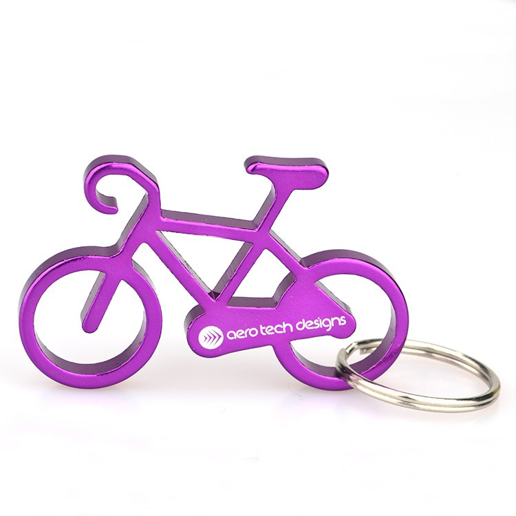 Aluminum Bicycle Keychain With Opener