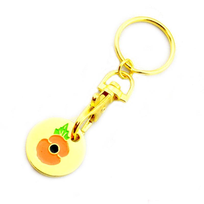 Artigifts Keyring Maker Custom Gold Shopping Cart Coin