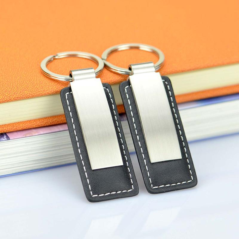 wholesale keychains metal and leather key chain
