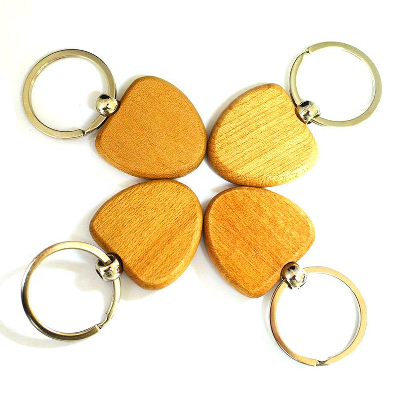 engraved blank wooden key rings