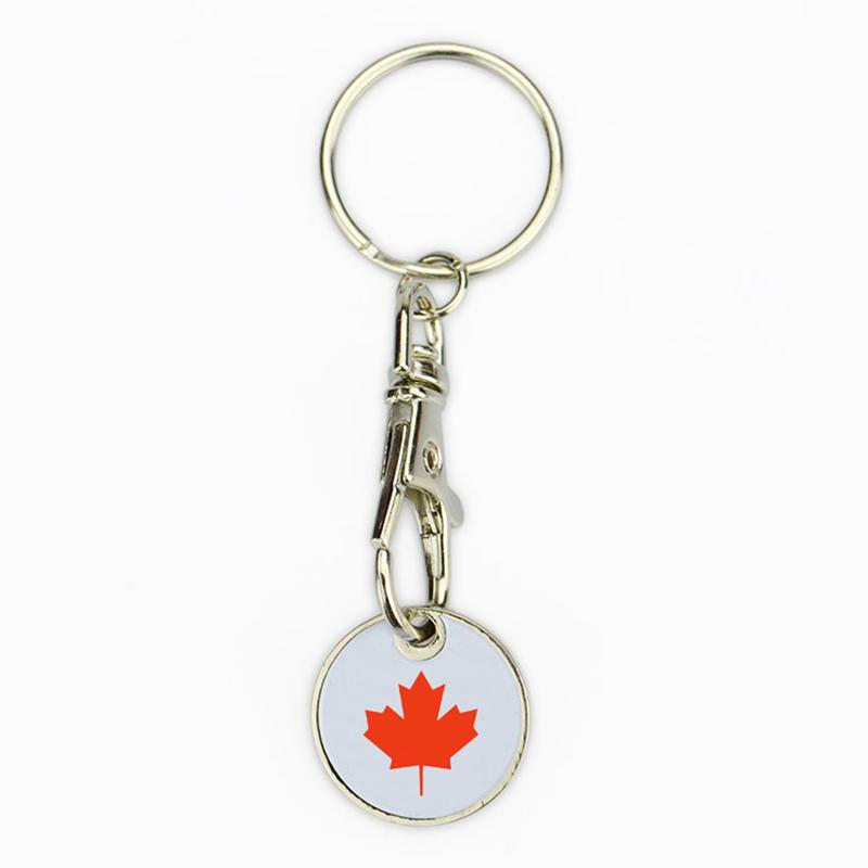 Canadian shopping cart coin keychain