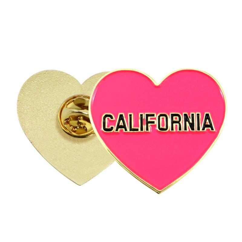 Wholesale Bulk Heart Enamel Metal Custom Lapel Pins No