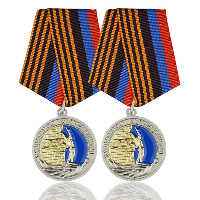 No Minimum Sale Metal Enamel Custom Logo Sports Medal Ribbon - Medals