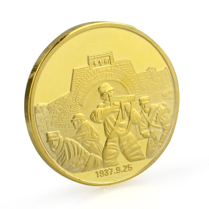 Metal Gold Plated Coin Custom
