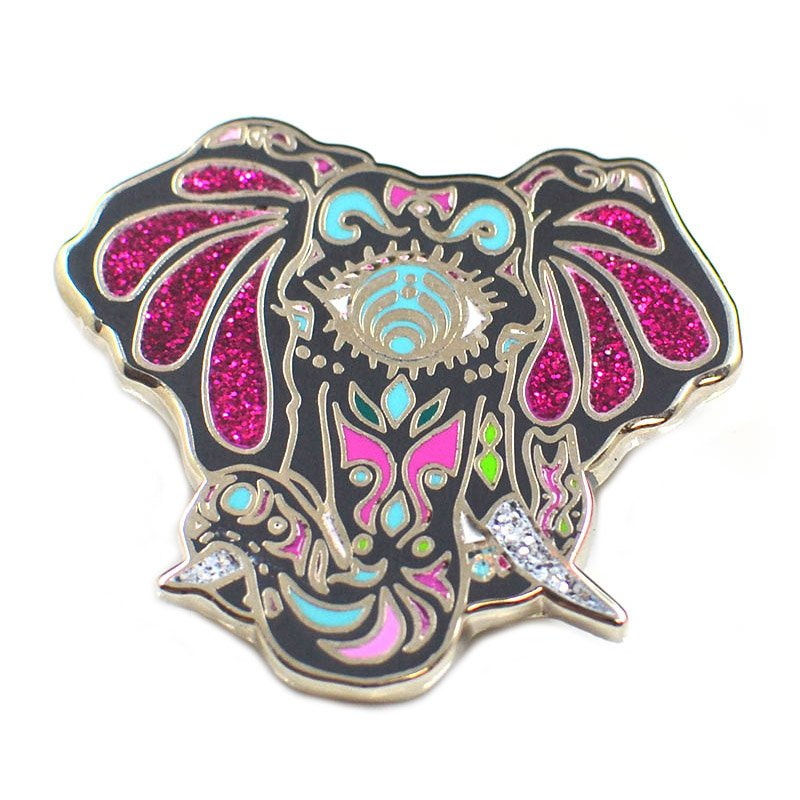 Enamel Pin Custom Glitter Lapel Pin