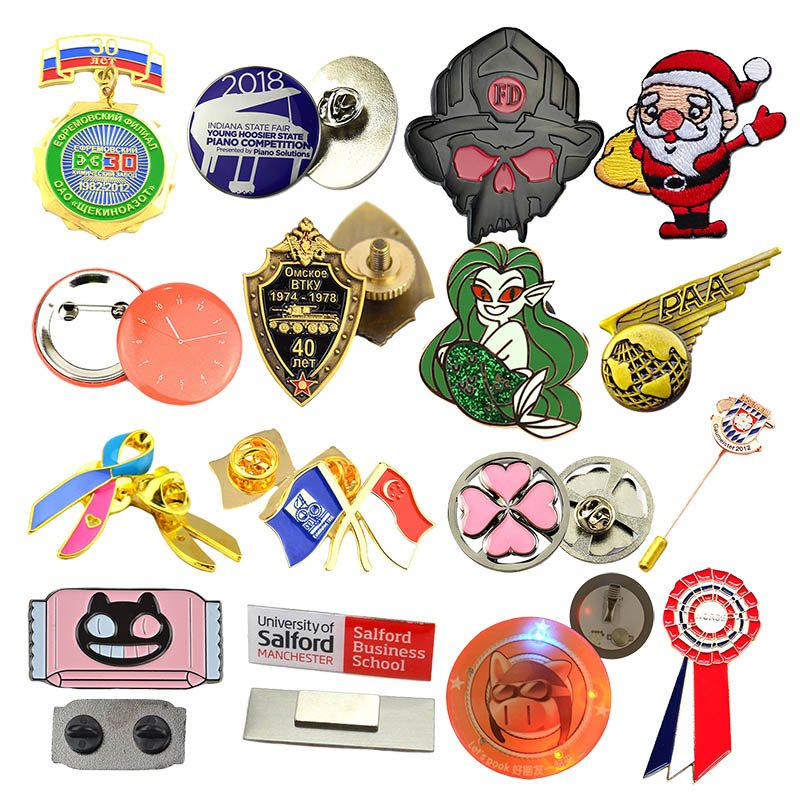 Custom Badges And Pins Metal Plated Bronze