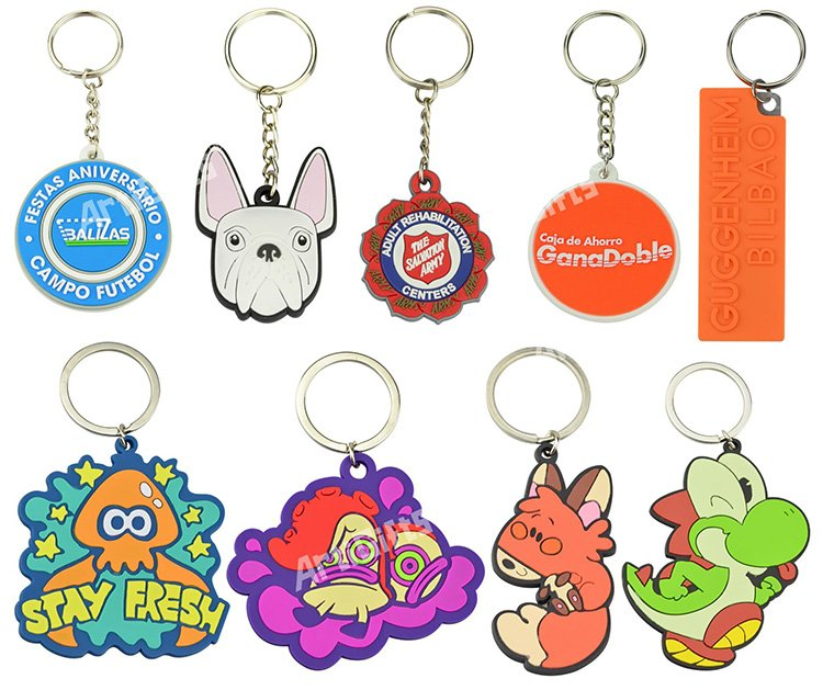 Keyring Rings Soft Pvc Keychain Rubber Key Chains