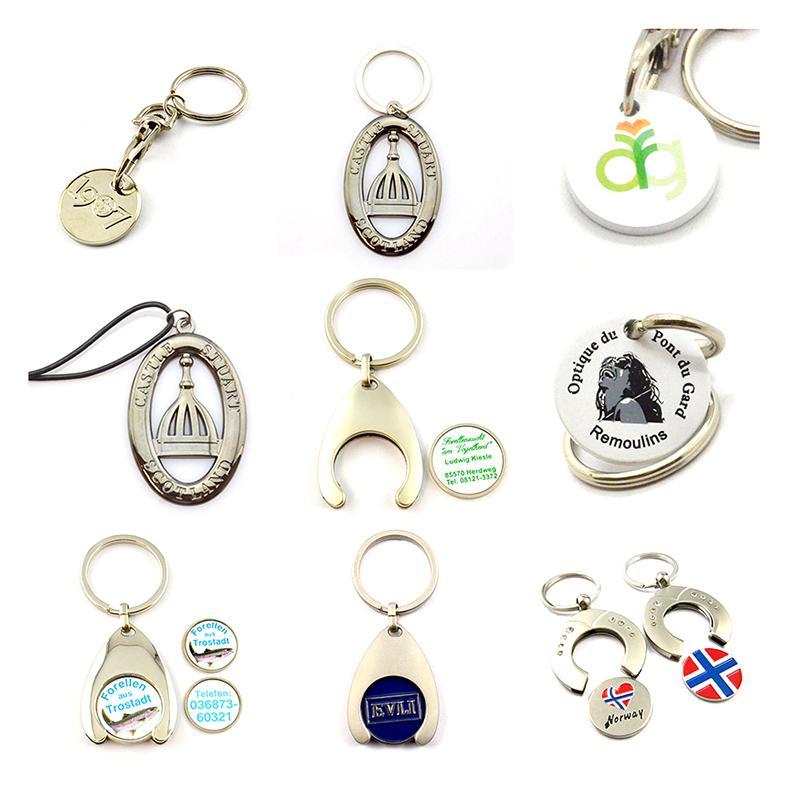 Customizable Keychain Metal Coin Holder Key Chain