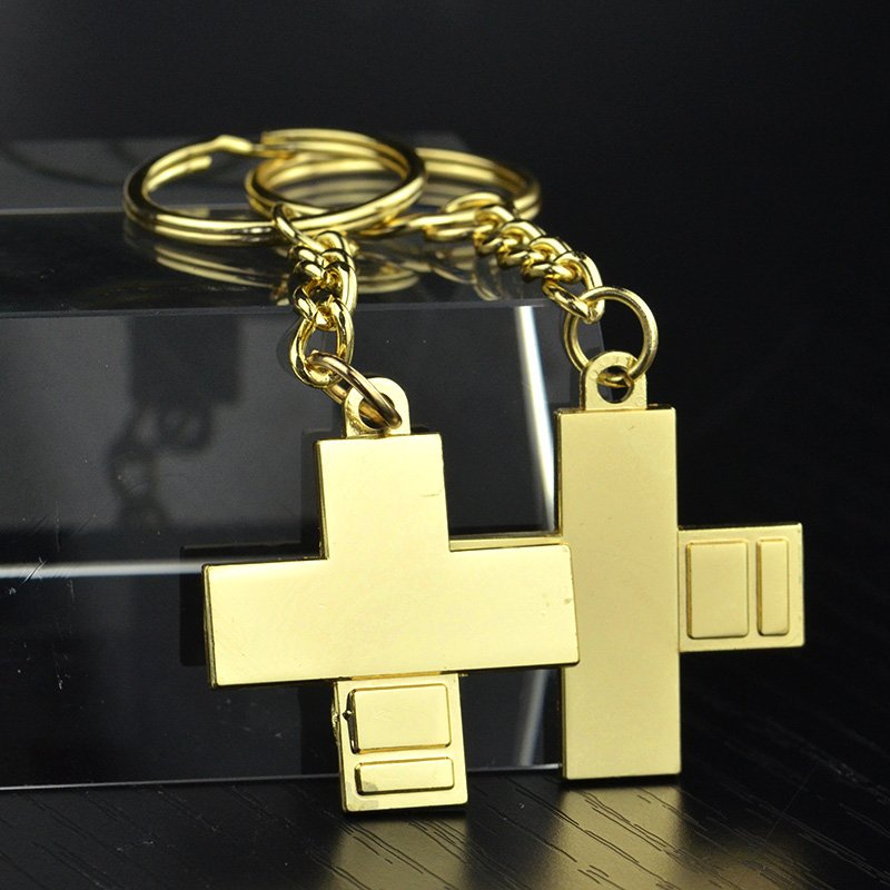 Keychain Keyring Zinc Alloy Gold Plated
