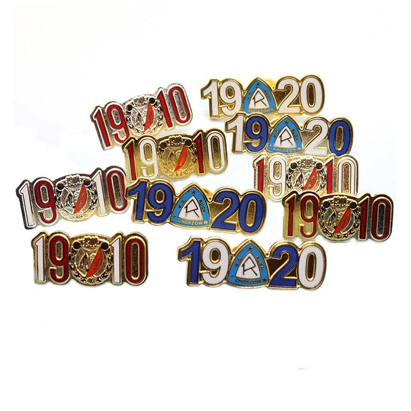 Metal Number And Letter Lapel Pins