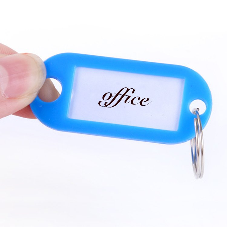 Name Card Keychain Plastic Hotel Tag Key Chains