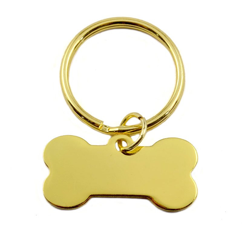 Big O Key Ring Dog Tag Keychain Gold Key Chain