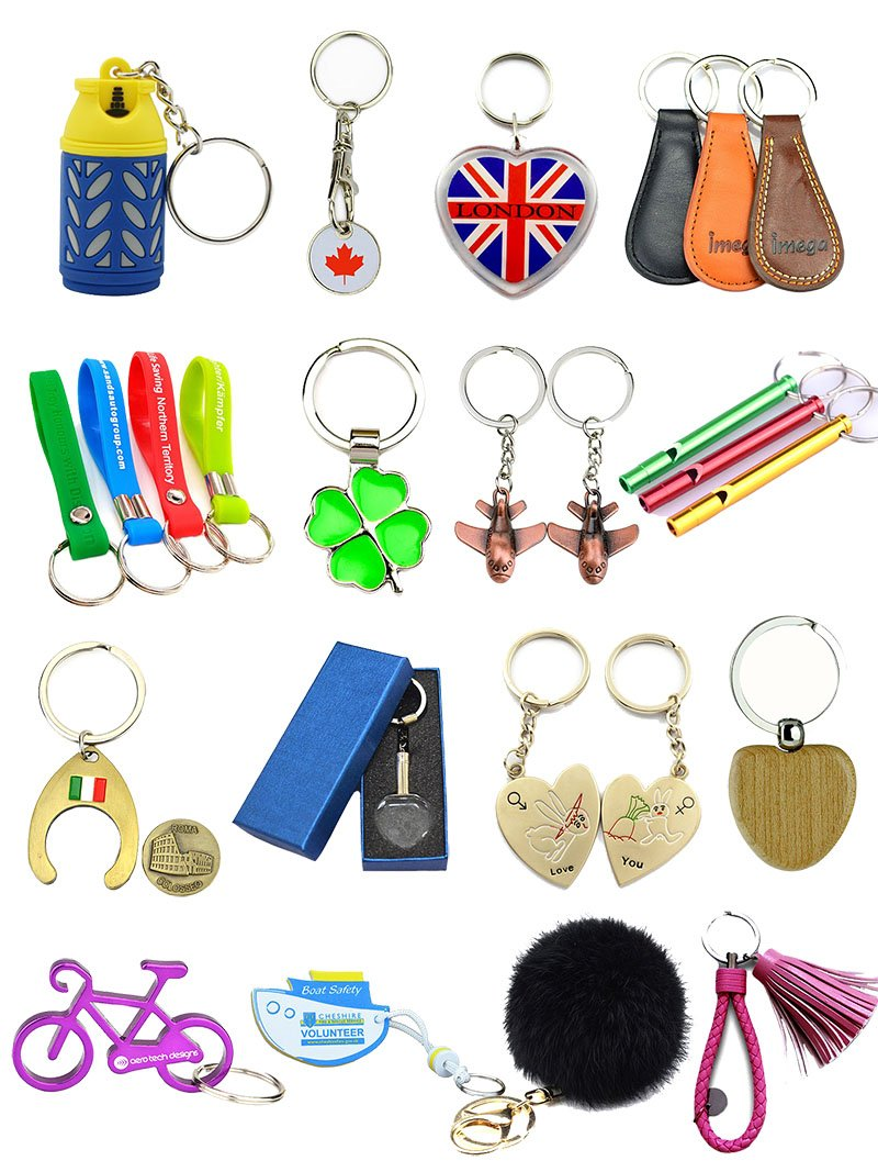 Engraved Keyrings Metal Keychain Enamel