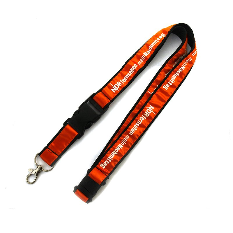 Embroidered Keychain Neck Woven Lanyard Key Chains