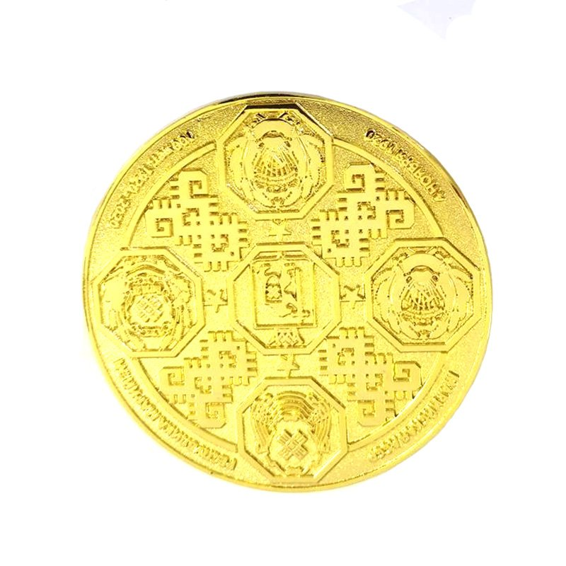 Custom Gold Dollar Coin 2D Metal Coin