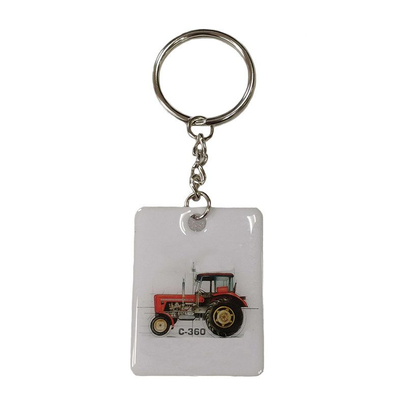Custom Keychain Tags Metal Printed Key Chain