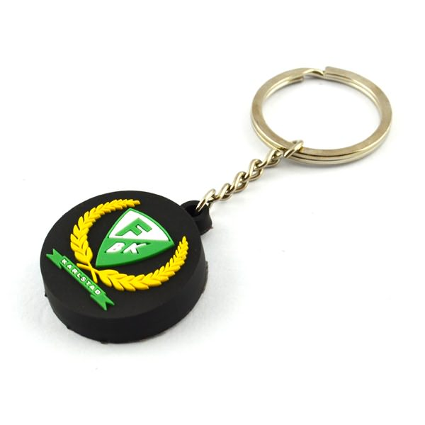 cheap soft rubber pvc key ring pvc keychain