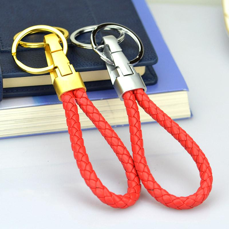 Wholesale soft leather key chain in keychains with metal
