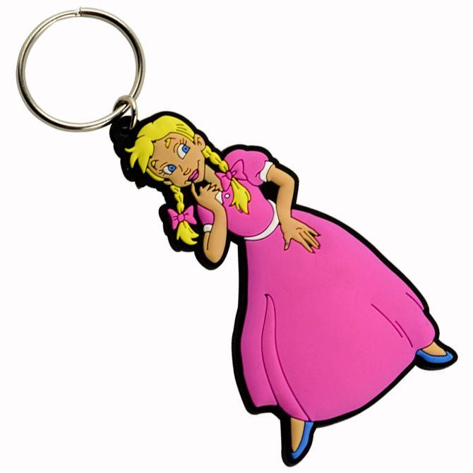 Factory promotional cheap soft pvc keychain