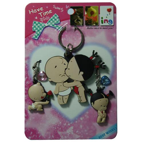 Wholesale fashion 3d soft pvc keyring