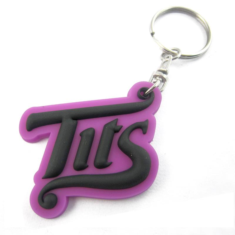 Artigifts promotional cheap soft pvc letter keychain