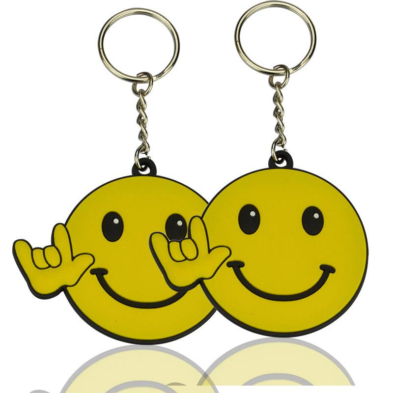 Beautiful soft pvc emoji keychain