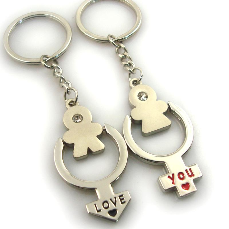Artigifts good quality metal pair keychain