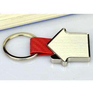 Newest personalized metal leather keyring