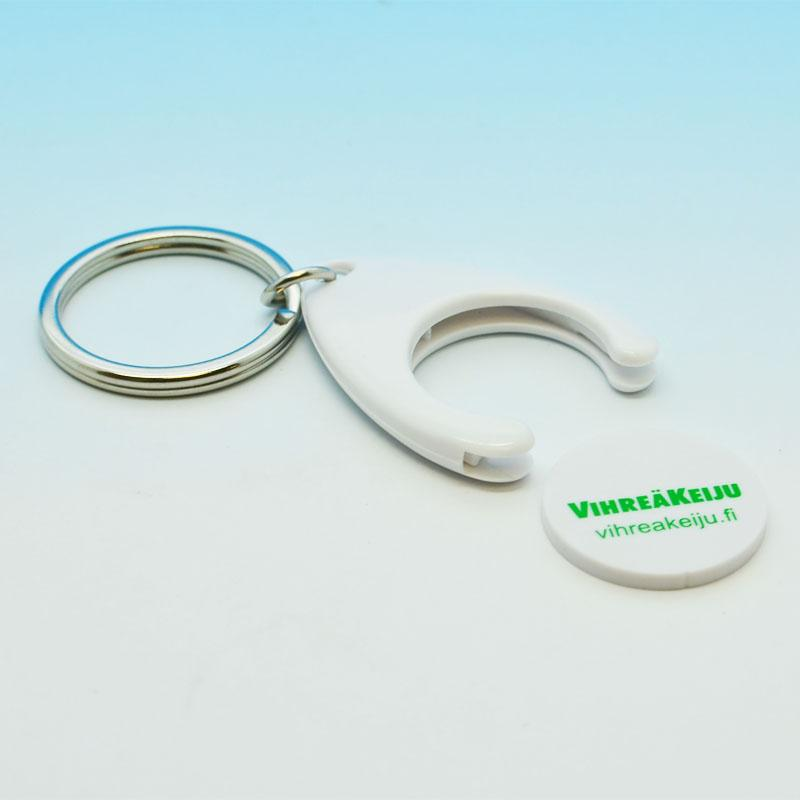 Cheap hot selling metal coin holder key chain