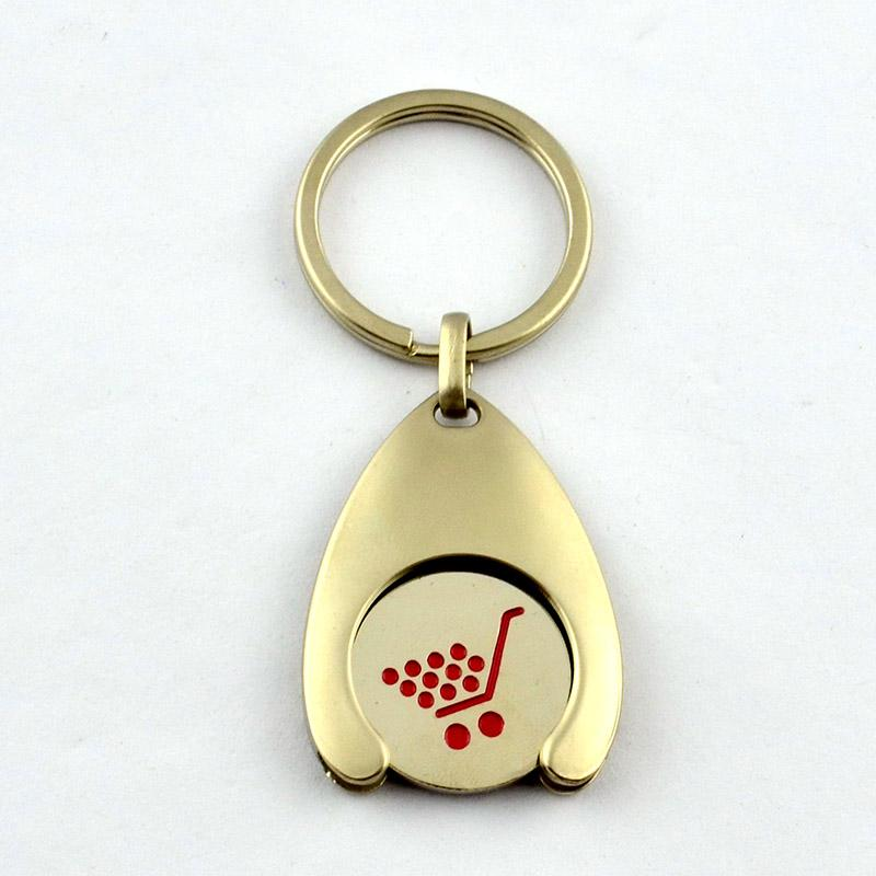 Cheap promotion coin holder keyrings