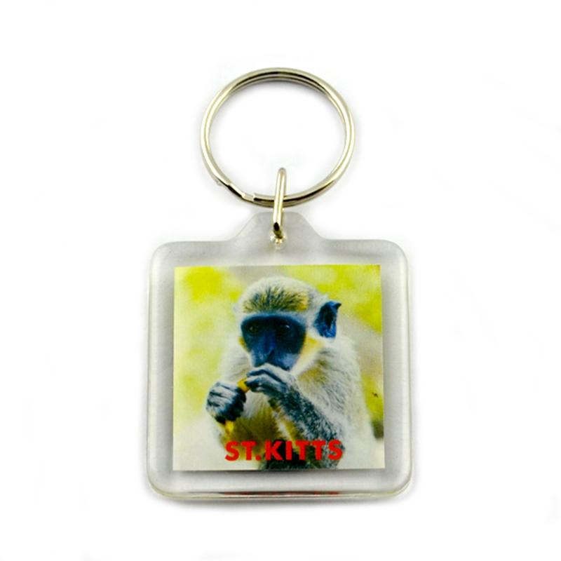 Cheap clear custom acrylic keychain photo