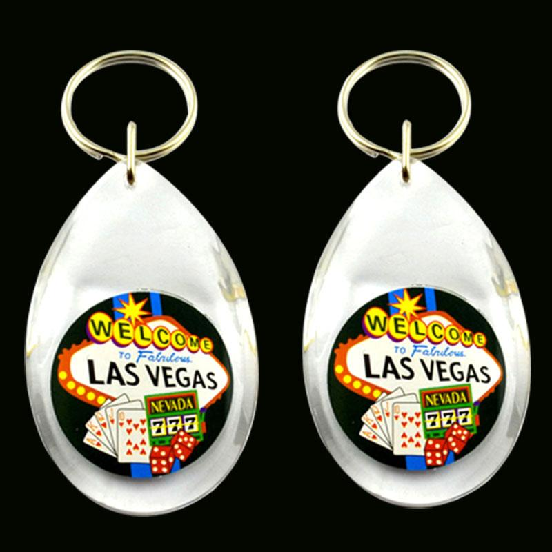 New style acrylic promotion keyring in key chains