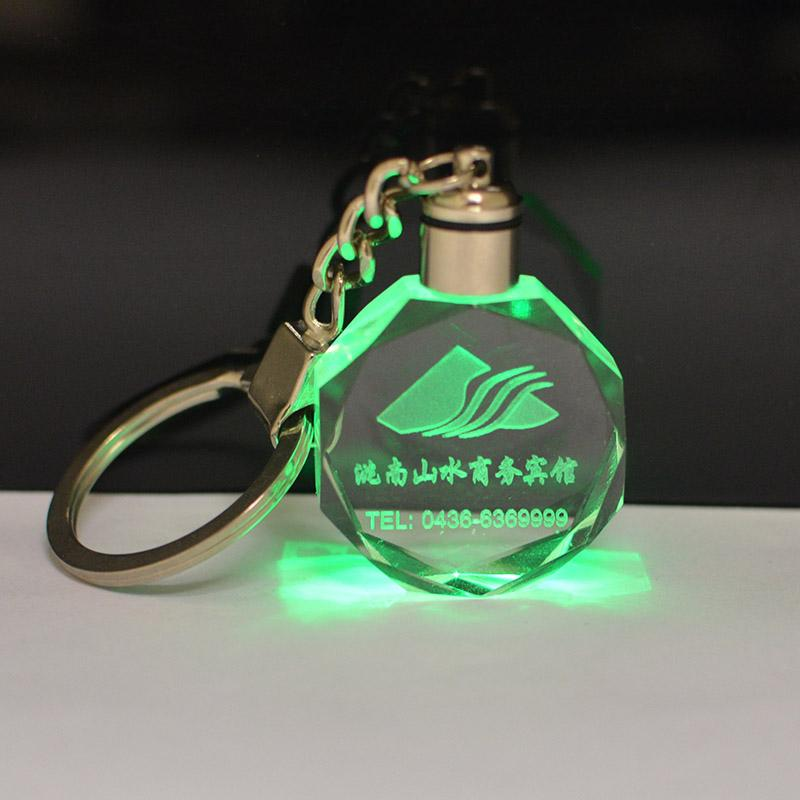 Wholesale high quality crystal led keychain manufacturer