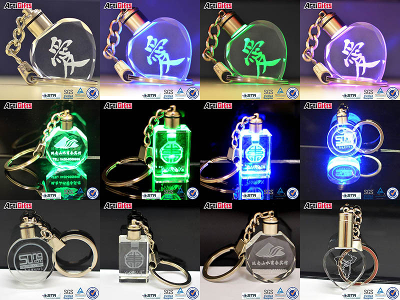crystal keychain laser key chain