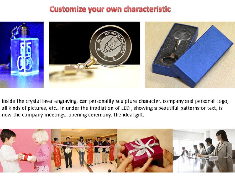 crystal keychain laser key chain