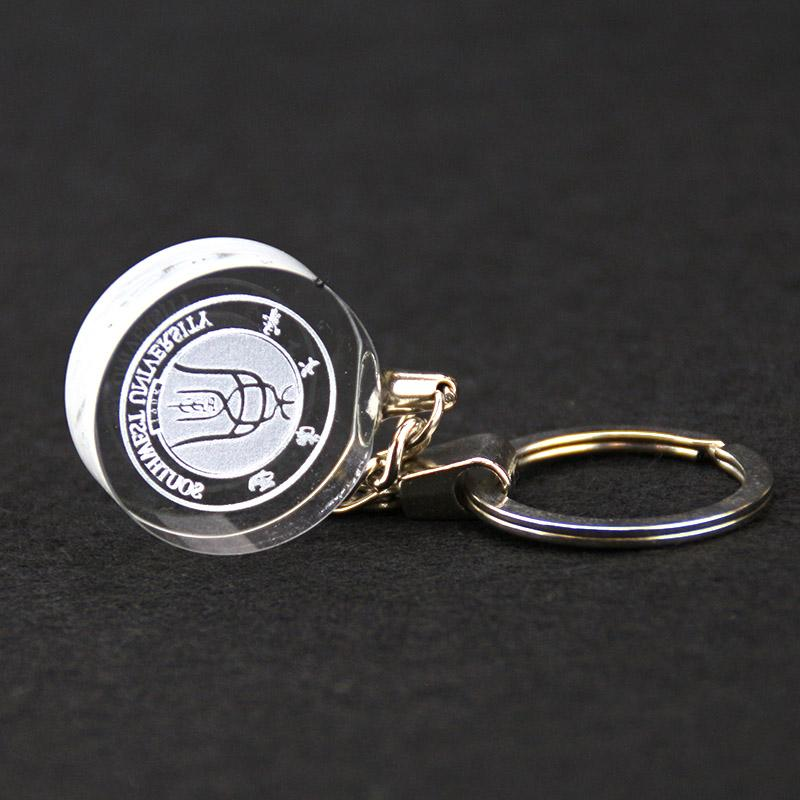 Wholesale cheap custom 3d laser crystal cube keychain