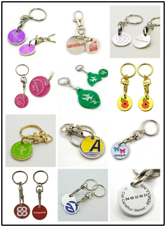 trolley coin key ring clip