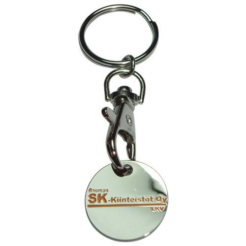 Shopping trolley coin key chain with customized logo