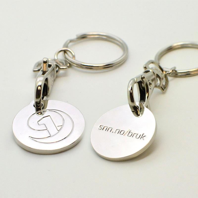 Promotional cheap metal coin keyrings