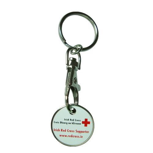 Wholesale design your own cheap trolley coin Key ring