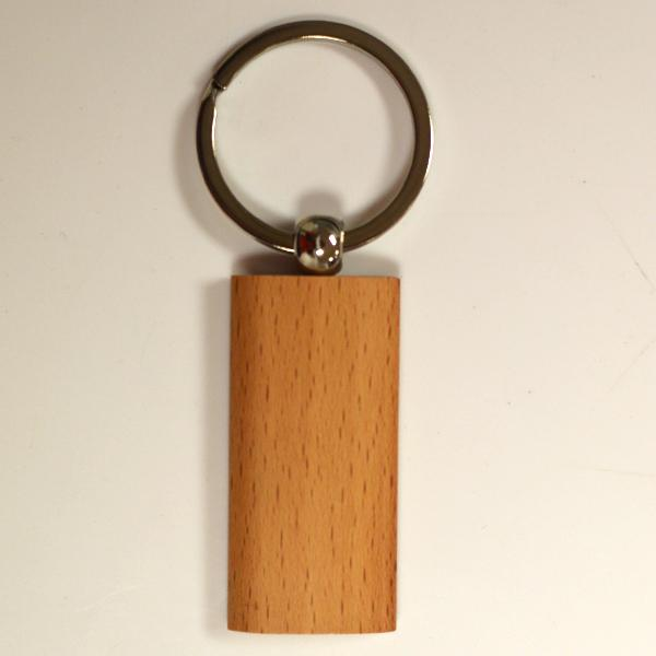 New attractive blank customized logo wood keychain