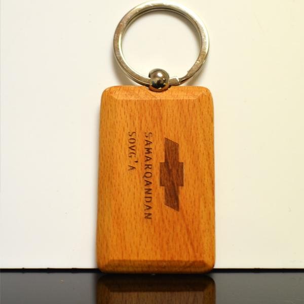 Cheap wood keychain with logo