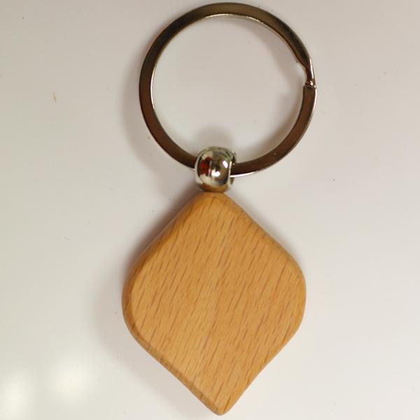 Factory direct sale custom wood keychain