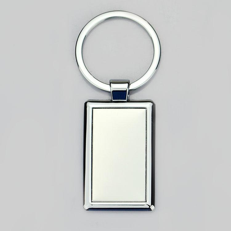 custom die cut metal keychain