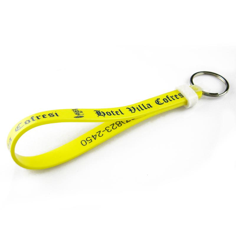 Custom High Quality Cheap Bulk Blank Wristlet Keychain